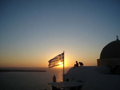 The Curious Case Of The Santorini Sunsets