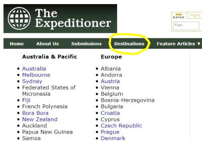 Did You Check Out The New Destinations Page Yet?