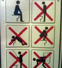 Signs: No Fishing In Toilets In Saudi Arabia