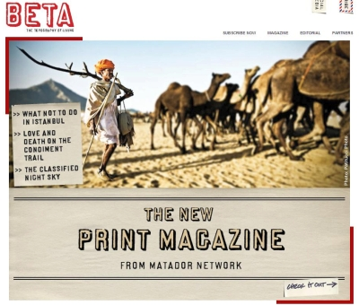 Matador Network Launching Magazine (Print That Is)
