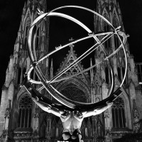 Atlas statue church