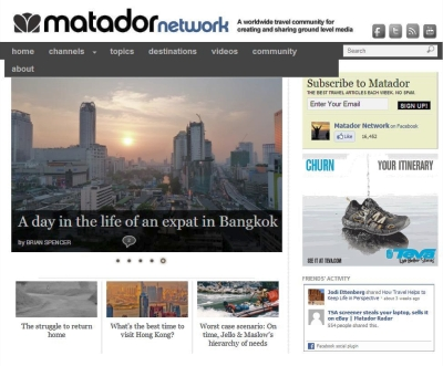 Matador Network Unveils New Design