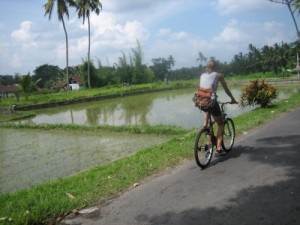 bicycling Bali