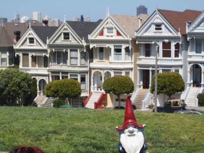 Traveling gnome in San Francisco