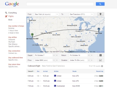 The Expeditioner Review: Google Debuts Google Flight Search