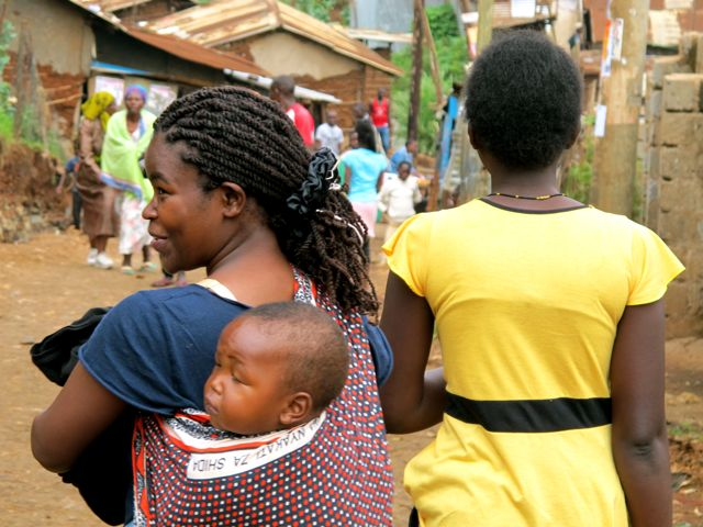 Woman with Child Kibera