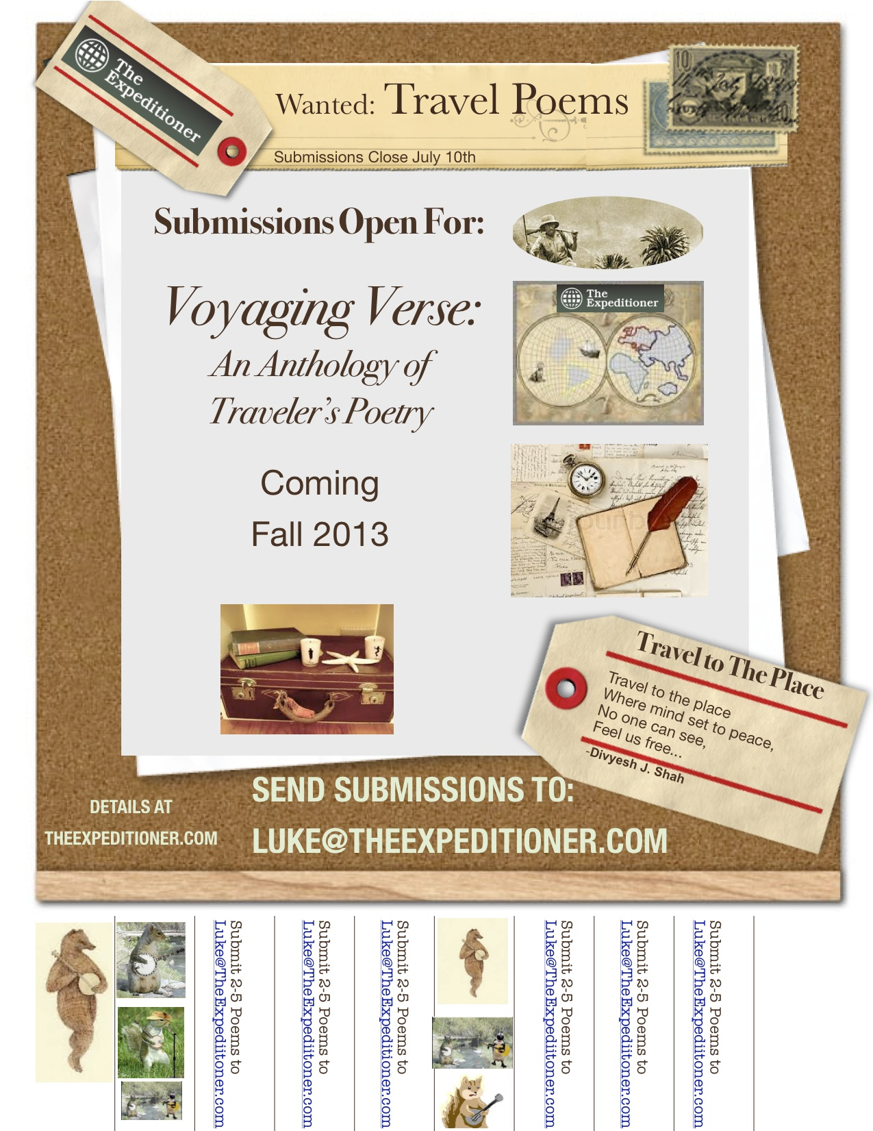 Open Call For Submissions: Poetry Written By Travelers