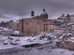 It Snowed In Rome? [Videos]