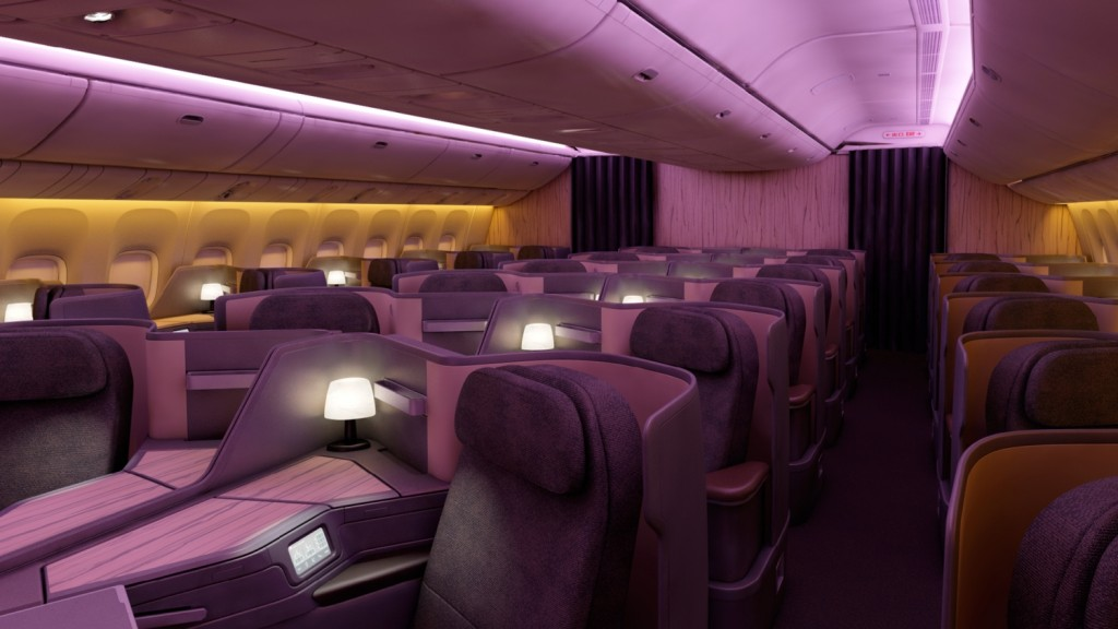 China Airlines 777 new-business-cabin