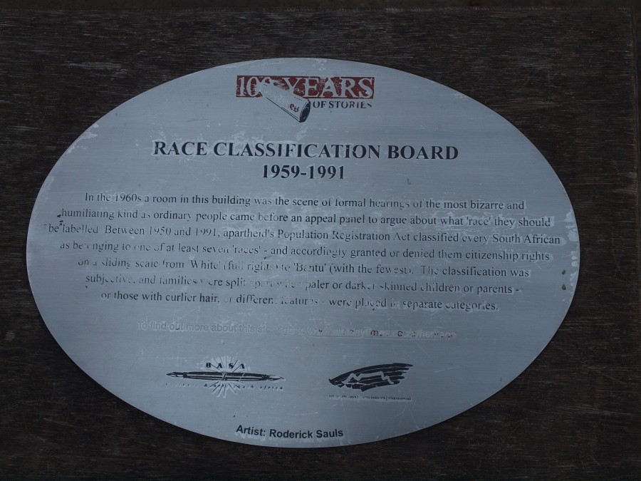 Race Classification Board Plaque
