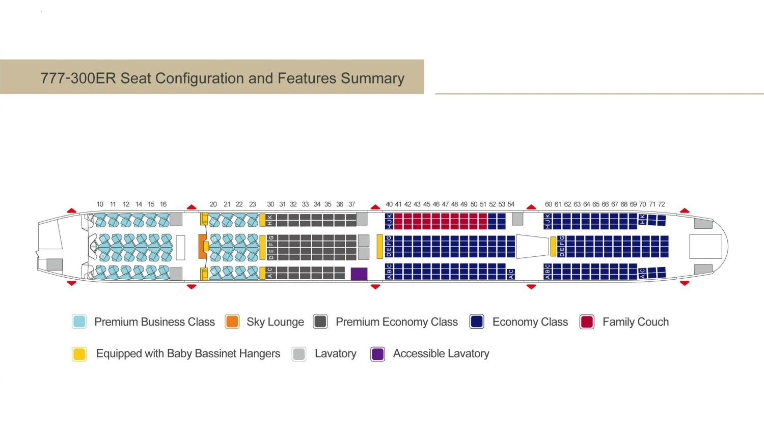 777_300ER China Airlines Seat Configuration